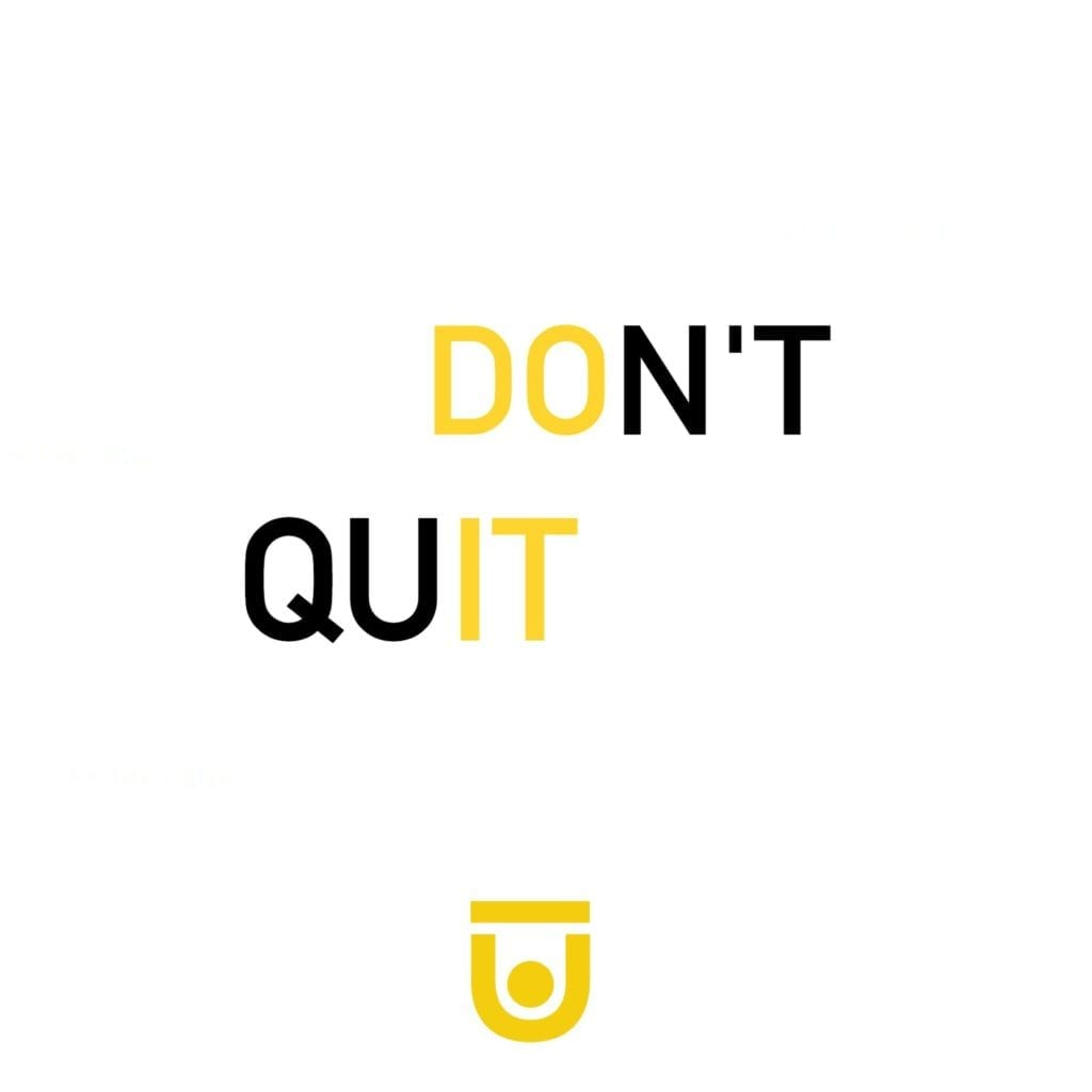 'Don't quit, do it.' gym motivation